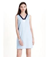 ガーベラレディース ファッション シンプル Vネック ストレート ワンピース  mb10373-1
