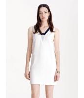 ガーベラレディース ファッション シンプル Vネック ストレート ワンピース  mb10373-2
