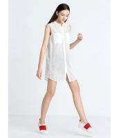 ガーベラレディース 欧米風 カジュアル 着やせ 個性派 コーデアイテム 袖なし シャツ ワンピース  mb10375-1