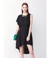 ガーベラレディース ファッション エレガント 非対称性 ミディアム シフォン 無地 ワンピース  mb10454-2
