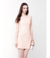 ガーベラレディース ファッション ロマンチック ジャガード エレガント 着やせ 襟口 ビーズ 袖なし ワンピース  mb10457-1