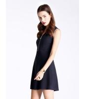 ガーベラレディース ファッション OL 立体 ハイウエスト 着やせ ホロー 袖なし Aライン ワンピース  mb10544-1
