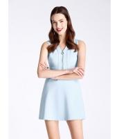 ガーベラレディース ファッション OL 立体 ハイウエスト 着やせ ホロー 袖なし Aライン ワンピース  mb10544-2