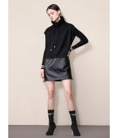 ガーベラレディース ファッション カジュアル ゆったり ハイネック ワンピース  mb10598-1