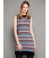 ガーベラレディース ファッション 欧米風 着やせ スタントカラー 裾スリット ワンピース  mb10603-1