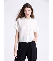 ガーベラレディース ファッション コーデアイテム ゆったり レース ポケット飾り 半袖 ショート丈 シャツ  mb10632-3
