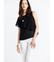 ガーベラレディース シンプル ファッション 非対称性 ゆったり 丸首 コーデアイテム ブラウス  mb10653-1