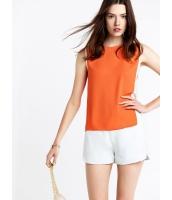 ガーベラレディース ファッション シンプル 袖なし 丸首 プルオーバー ブラウス  mb10662-2