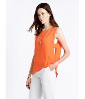 ガーベラレディース エレガント シンプル ファッション ゆったり Aライン 重ね着風 袖なし プルオーバー ブラウス  mb10663-2