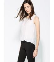 ガーベラレディース エレガント ファッション ガーゼ ベスト ファッション Aライン 袖なし ブラウス  mb10696-2