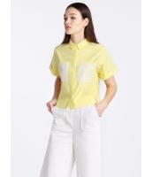 ガーベラレディース 欧米風 カジュアル ゆったり 半袖 シャツ  mb10717-2