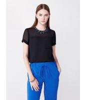 ガーベラレディース ファッション シンプル パッチポケット飾り H型 ブラウス  mb10719-1