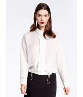 ガーベラレディース ファッション シンプル ゆったり ゴムひも裾 ショート丈 長袖 シャツ  mb10778-2
