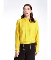 ガーベラレディース ファッション シンプル ゆったり ゴムひも裾 ショート丈 長袖 シャツ  mb10778-3