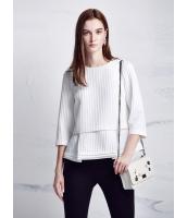 ガーベラレディース ファッション 立体 ロマンチック 七分袖 2点セット コーデアイテム ブラウス & タンクトップ mb10853-1