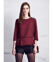 ガーベラレディース ファッション 立体 ロマンチック 七分袖 2点セット コーデアイテム ブラウス & タンクトップ mb10853-2