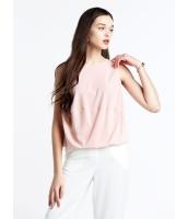 ガーベラレディース ファッション シンプル 袖なし Tシャツ mb10883-2