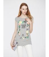 ガーベラレディース 欧米風 カジュアル ゆったり リラックス 袖なし 丸首 ロング丈 Tシャツ mb10909-2