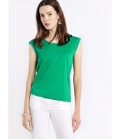 ガーベラレディース ファッション シンプル ドロップショルダー ゆったり ストレート 丸首 ショート丈 Tシャツ mb10913-1