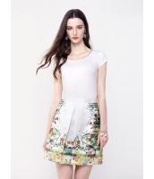 ガーベラレディース ロマンチック シフォン プリーツ 肌に優しい 通気性 ファッション 半袖 コーデアイテム Tシャツ mb10945-1