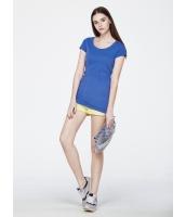ガーベラレディース クラシック コーデアイテム リラックス 純綿 着やせ ワンピース風 Tシャツ mb10949-1