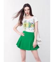 ガーベラレディース ファッション シンプル 半袖 丸首 肌に優しい 純綿 コーデアイテム Tシャツ mb10953-1