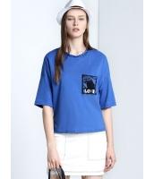 ガーベラレディース 欧米風 カジュアル ゆったり 純綿 丸首 半袖 Tシャツ mb10973-1