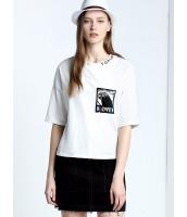 ガーベラレディース 欧米風 カジュアル ゆったり 純綿 丸首 半袖 Tシャツ mb10973-2