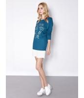 ガーベラレディース 欧米風 シンプル ファッション 文字入り ドルマン袖 Tシャツ mb10979-2