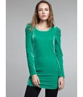 ガーベラレディース ベルベット ロマンチック 着やせ ロング丈 Tシャツ mb11044-3