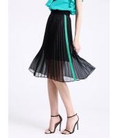 ガーベラレディース ファッション エレガント ゴムウエスト 立体 プリーツ ひざ下スカート mb11053-1
