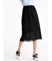 ガーベラレディース ロマンチック ファッション 不規則 立体 プリーツ ダブルレイヤー ゴムウエスト ストレート ひざ下スカート mb11054-3