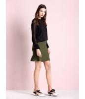 ガーベラレディース ファッション ストレッチ性 非対称 ぺプラム コーデアイテム スカート mb11109-1