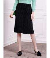 ガーベラレディース ファッション シンプル ストレート プリーツ ひざ丈スカート mb11111-1