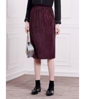 ガーベラレディース ファッション シンプル ストレート プリーツ ひざ丈スカート mb11111-2