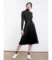 ガーベラレディース ファッション シンプル ひざ下スカート mb11127-1