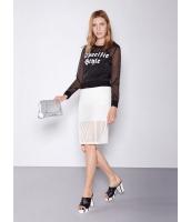 ガーベラレディース 欧米風 カジュアル ファッション シースルー ボーダー 個性派 ゴムウエスト 着やせ スカート mb11138-2