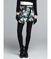ガーベラレディース 欧米風 デジタルプリント 不規則 裾 ミニスカート mb11162-1