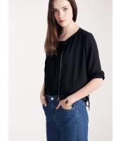 ガーベラレディース エレガント ファッション 紐調節 ぺプラム 七分袖 カーディガン mb11170-1