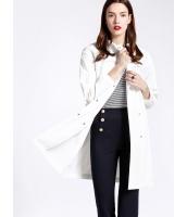 ガーベラレディース ファッション エレガント OL ゆったり 大きいポケット 後ウエスト紐調節 コート アウター mb11181-2