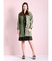 ガーベラレディース ファッション カジュアル ゴムウエスト コーデアイテム トレンチコート mb11187-1