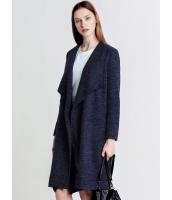 ガーベラレディース 欧米風 カジュアル ゆったり ファッション シンプル 長袖 ロング丈 アウター コート mb11190-1