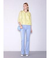 ガーベラレディース 精緻 ファッション コーデアイテム ホロー レース ゆったり ブラウス mb11193-2