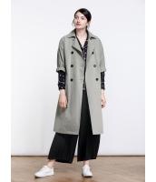 ガーベラレディース 欧米風 ファッション ダブルボタン 大きい飾りポケット 九分袖 ロング丈 コーデアイテム トレンチコート mb11215-1