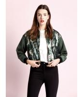 ガーベラレディース ファッション カジュアル 迷彩グリーン ドロップショルダー ショート丈 ジャケット mb11222-1