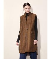 ガーベラレディース カジュアル ファッション ゆったり ロング丈 スタンドカラー コート mb11282-1