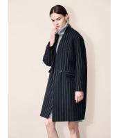 ガーベラレディース ファッション 欧米風 おおらか ボーダー ウール ゆったり ロング丈 アウター フリースコート コーディガン mb11290-1