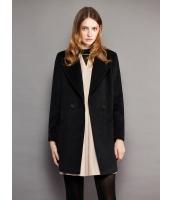 ガーベラレディース ファッション 欧米風 ステンカラー ストレート 大きいポケット ミディアムコート mb11312-1