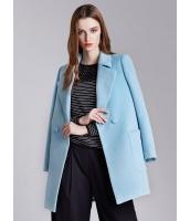 ガーベラレディース ファッション 欧米風 ステンカラー ストレート 大きいポケット ミディアムコート mb11312-2