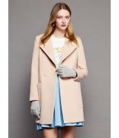 ガーベラレディース ファッション 欧米風 ステンカラー ストレート 大きいポケット ミディアムコート mb11312-3
